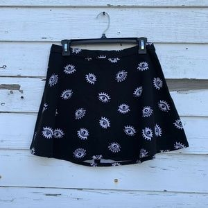Divided H&M Black White Eye Print Mini Skirt 8